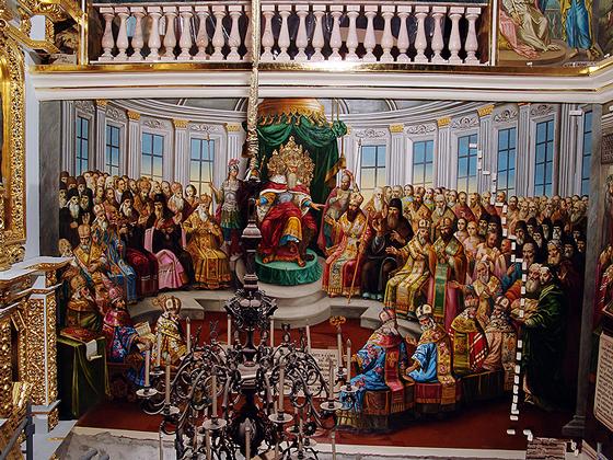 роспись храма, успенский собор, киев, лавра