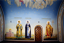 Mural painting, mural painting of church, icon, iconostasis, restoration, fresco, mosaic picture, Art Studio, Art School, design, building